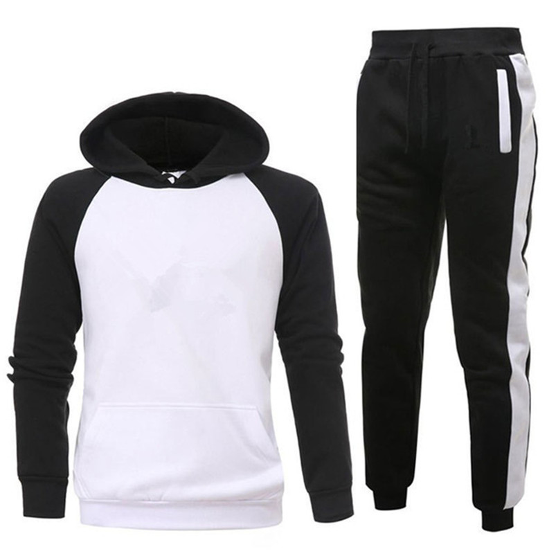 Brand Clothing Men's Sets Two Pieces Casual Sweatshirts Cotton Men Tracksuit Hoodies+ Pants Sport Shirts Autumn Winter Set 1