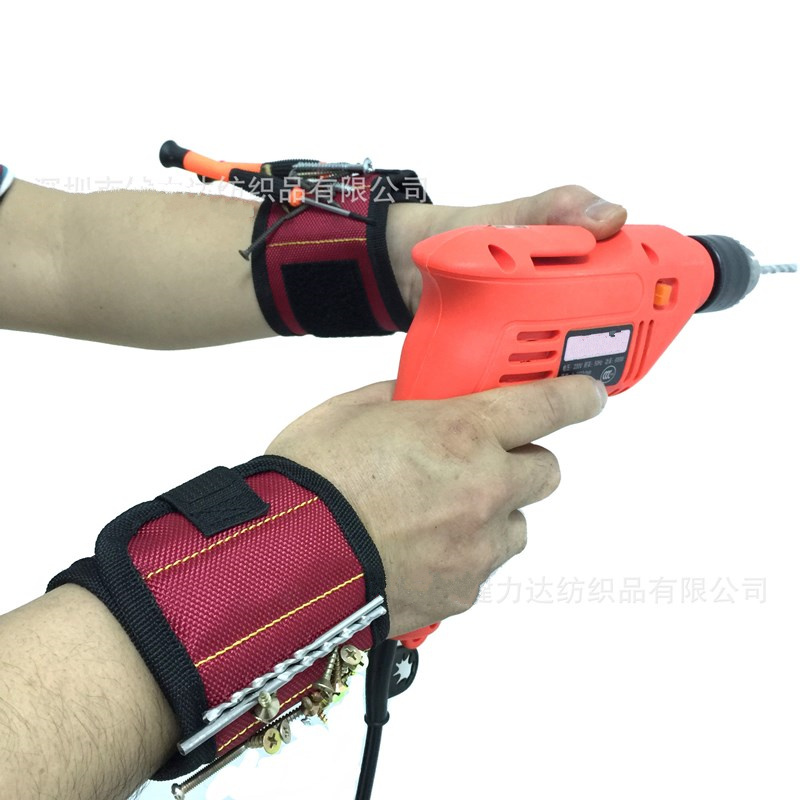 Magnetic Wrist Strap Tool Bag Suction Screw Hardware Tools Maintenance Parts Storage Wrist Magnetic Electrician Storage