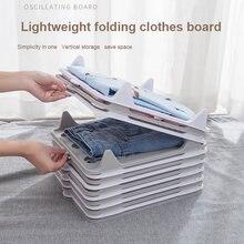 Preguiçoso folding roupas camisa organizador t camisa pasta placa divisor roupas empilhável dobrável organizador de armazenamento em casa