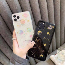 Epoxy Planet Star Case For Huawei Y9 Prime 2019 2018 Y7 Y6 Case Silicon Cover Huawei P20 Lite P10 P30 Pro P9 P8 Lite 2017 Bumper silicon case for huawei y6 2018 y7 prime p8 lite 2017 nova 2 plus case cover huawei p10 lite honor 6a 6c pro case ring cover