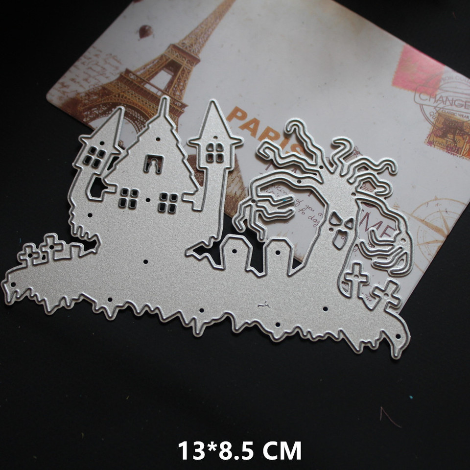 10styles Background Frame Cutting Dies Stencil Crafts DIY Card Scrapbooking Tool