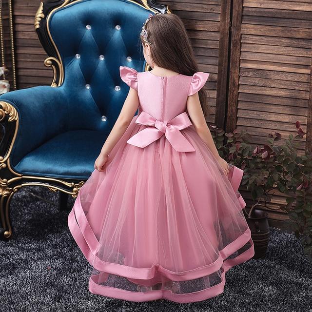 Wedding Tulle Lace Long Girl Dress  5