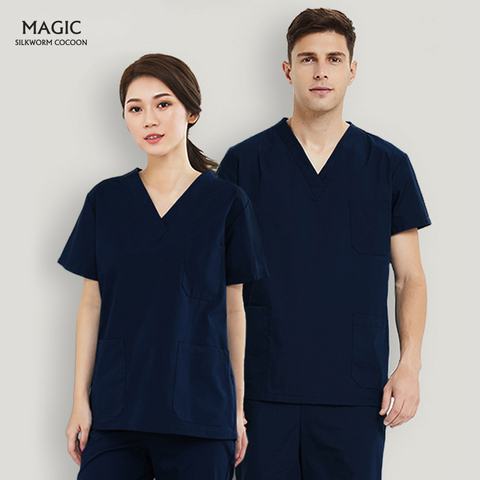 Purchase Short Sleeve V-neck Uniform Solid Color Nursing Scrubs Tops Beauty Salon Clothing Women Fashion Scrubs Work Wear & Uniforms — stackexchange