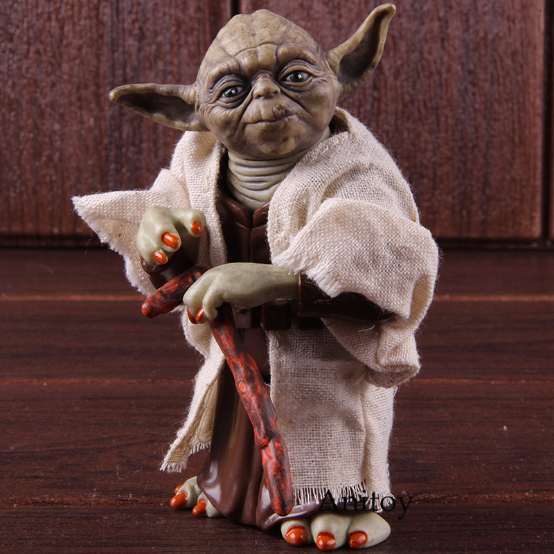Star Wars Master Yoda Jedi Knight PVC Action Figure Collectible Model Toy Doll Gift 12cm KT2029