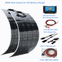 1000W energia słoneczna cały układ słoneczny 100w elastyczny panel słoneczny 200w 100w zasilanie solarne do użytku domowego zestaw solarny trzy rodzaje tanie tanio EPSOLAR 100000H Domu less than 500w Normalne BPS 32-100 12V OR 24V 3M extension solar cable red and black 3m SOLAR Battery Cable