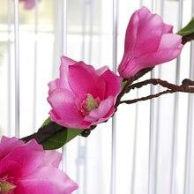 Искусственный цветок растения магнолии лозы искусственный цветок для Свадьбы вечерние украшения дома MU8669