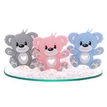 10pcs Silicone Bear Baby Teether Food Grade Infant Teething Pacifier Chain Accessories Rodent Pendant Newborn Toy BPA Free Koala cheap fkisbox 0-6m 7-12m 25-36m 13-24m Silikon CN (Herkunft) BPA FREI PVC geben frei Phthalat geben frei TB002 Tier 77mm*86mm*9mm