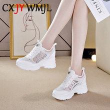 цены Sneakers Women Spring 2020 Fashion Breathable Mesh Casual Sneaker Summer Platform Sports Shoes Comfortable Running Shoe Leather