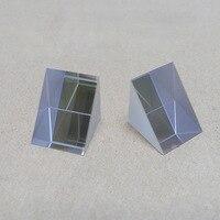 A refração física do raio do experimento da reflexão total de 90 graus do prisma de isósceles do triângulo do ângulo direito de vidro ótico|Prismas| |  -