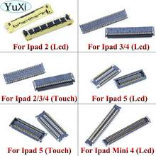 YuXi Touch Screen Lcd-scherm FPC Connector Voor iPad 2/3/4 5 Board Connector Op Moederbord Moederbord voor Ipad Mini 4(China)