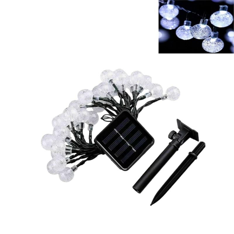 100 LED Solar Powered String Light Garden Yard Decor Lamp Outdoor Waterproof