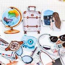24 pçs bonito globo avião viagem adesivos diy scrapbooking álbum de fotos decorações etiqueta adesivos escola material de escritório