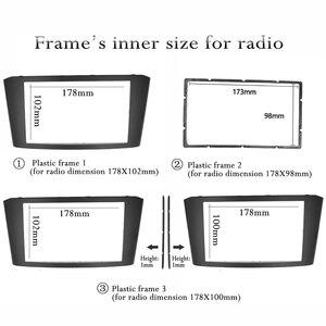 Image 2 - TOYOTA Avensis 프레임 패널 용 Double 2 Din Car Radio Fascia 스테레오 페이스 플레이트 오디오 베젤 Facia dash Mount Kit 어댑터 트림