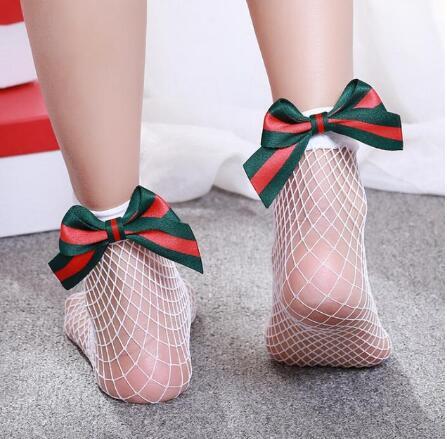 meias femininas com laco de malha meias 01