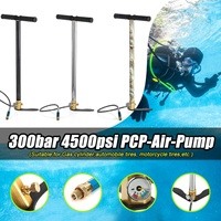 30mpa 3 Stage Hand Operated Air PCP Pump Stirrup Charging Gas Filter Gauge Hose High Pressure 4500psi Mini Air Guns