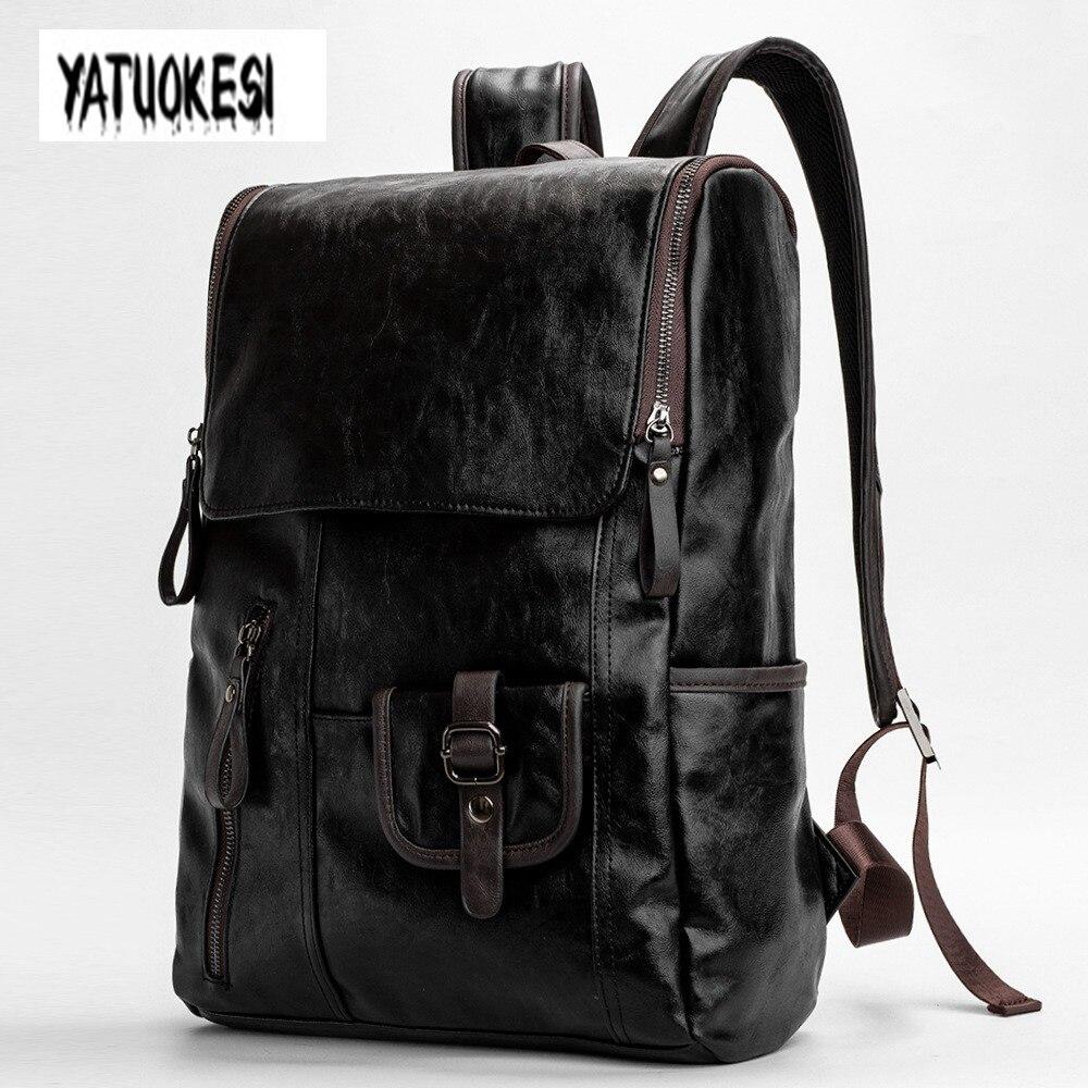 YATUOKESI Men's Backpack Korean Style Student SchoolBag Trend  School Sports Travel Bags For Teenagers Laptop Backpack  Mochilas