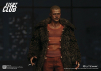 In Stock BLITZWAY 1/6 Fight Club Taylor Brad Pitt BW FC00325 Fur Coat Ver. Action Figure in stock