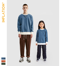 INFLATION Daddy & kids T-shirt Long Sleeve Father Son Streetwear Loose Fit Family Matching Clothes