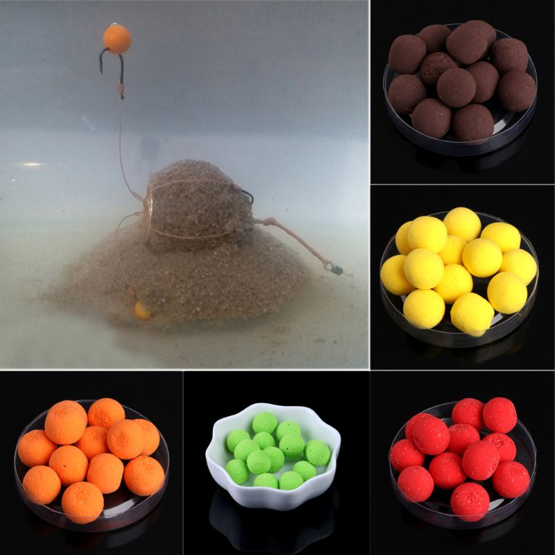 15g 12mm Floating Ball Beads Feeder Carp Fishing Baits Smell Lures 7 Flavours New