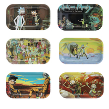 Stainless Steel Tobacco Rolling Tray Portable Square Cartoon 27*16cm Smoking Accesoires