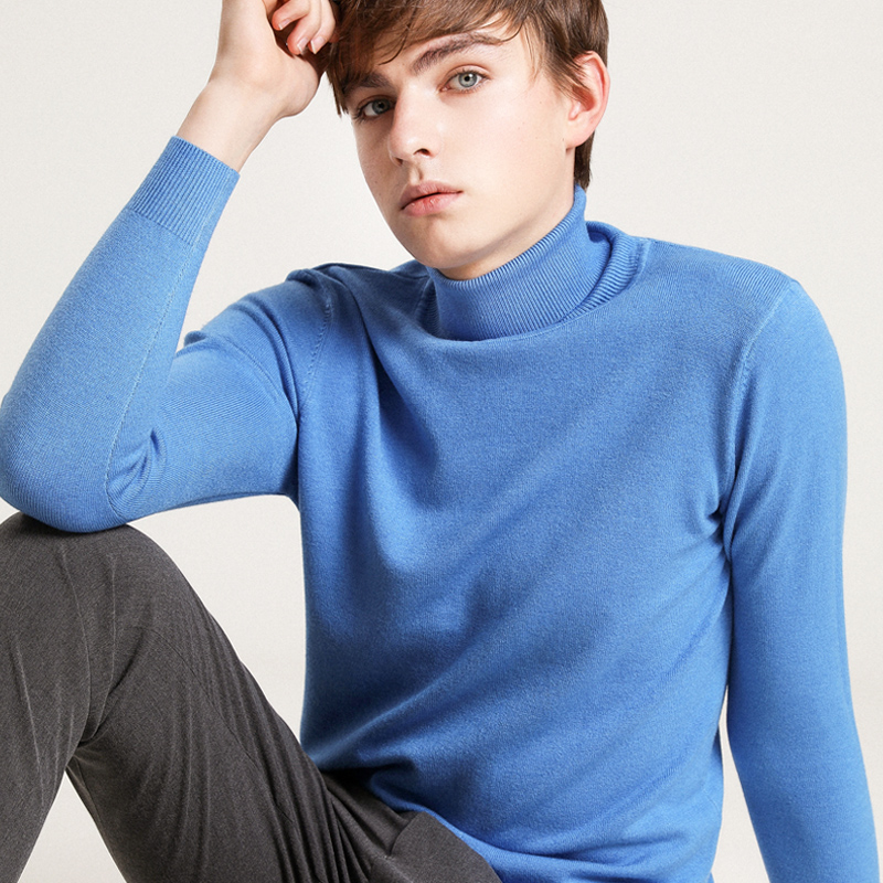 2019 Winter New Cashmere Sweater Men's Winter Thick Turtleneck Sweater Young Men's Large Size