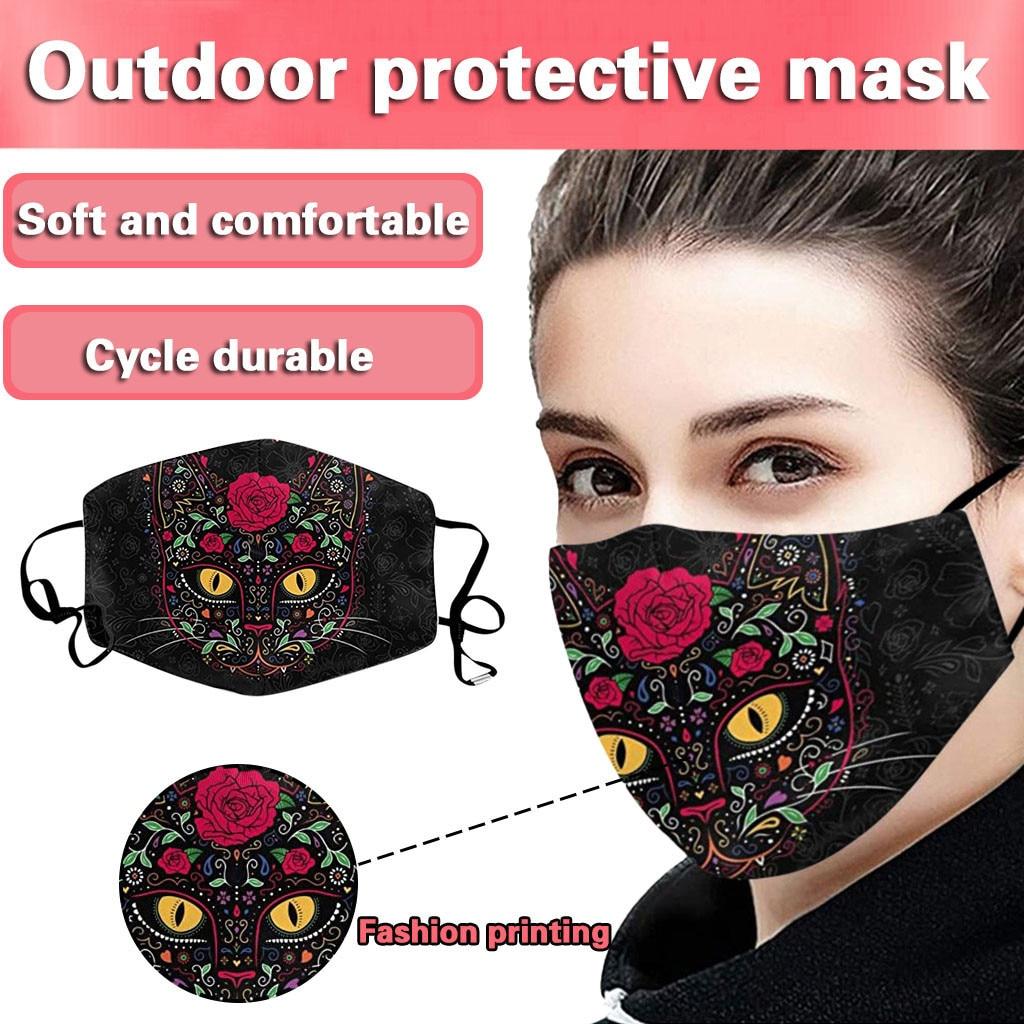 Washable Reusable Cat Face Mask