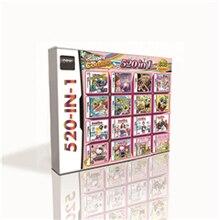 Cartucho de jogos 520 em 1 para ds 2ds 3ds, cartucho de jogos de alta qualidade