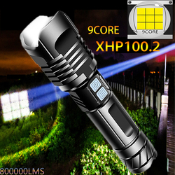 1000000lms High Power Flashlight XHP100.2 Nine Core Torch XHP50.2 Usb Rechargeable Tactical Flashlight 6000mah Self Defense,edc