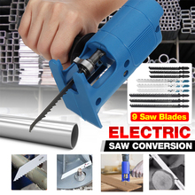 Cordless Reciprocating Saw Adapter Electric Drill Modified Electric Saw Metal Wood Cutting Saw Attachment Adapter  With Blades