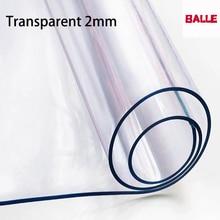 Dikke 2Mm Transparante Pvc Tafelkleed Waterdicht Tafelkleed Olie Proof Zacht Glas Beschermen Keuken Eettafel Hoge Kwaliteit