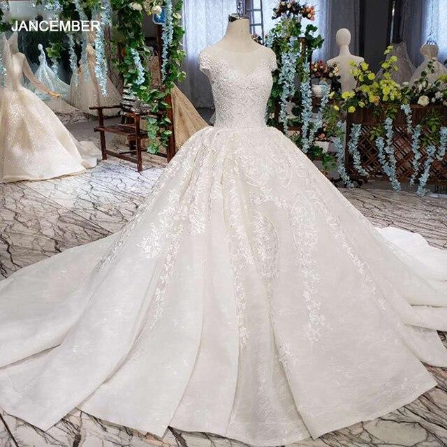 LSS513ヴィンテージのウェディングドレス2020アップリケ結婚式のベールoネックv バックホワイトブライダル夜会服