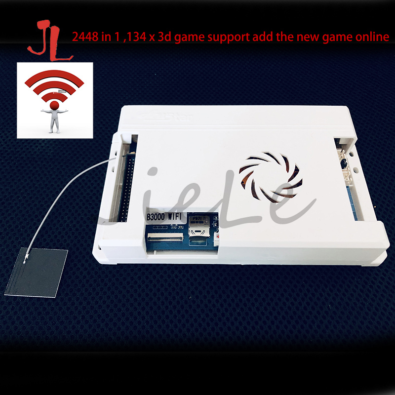 2020 latest support WIFI online download 2D or 3D game, 2448 in 1 Game Console PCB 3D Arcade Machine Board Support 3p 4p image