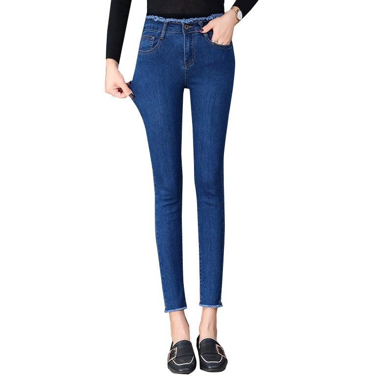 2020 New Denim Stretch High Waist Skinny Sexy Jeans Women Stretch Trousers Blue Grey Black Slim Feet Casual Pencil Pants
