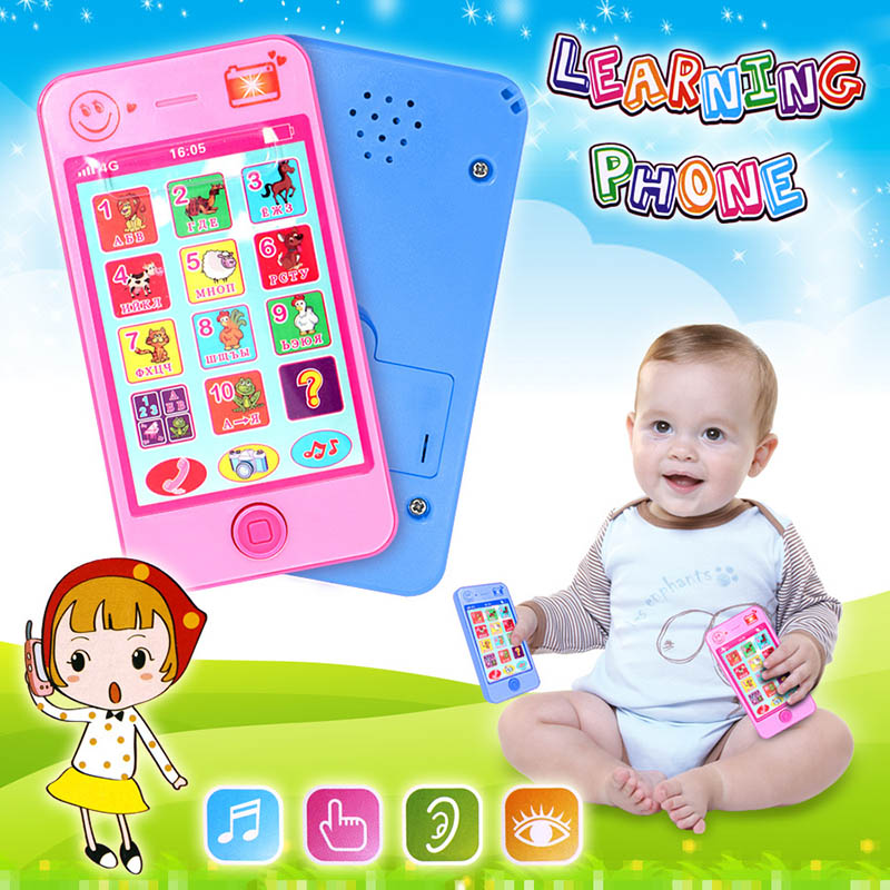 Russian Kids Phone Toys Children Early Education Simulation Music Mobile Phone Toy Gift For Baby