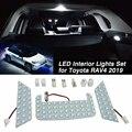 Популярный автомобильный белый светодиодный светильник для модернизации интерьера  лампа  комплект для Toyota RAV4  2019  2020 (поддержка дропшиппин...
