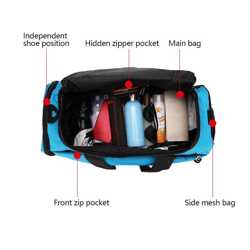 50L çok fonksiyonlu katmanlı spor çanta adam kadınlar için ayakkabı bölmesi taşıma çantası omuz çantaları sırt çantası