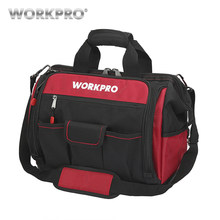 "WORKPRO 16"" Open Top Tool Storage Bag Multifunctional Heavy Duty Tool Bag Men Crossbody Bag for Tools(China)"