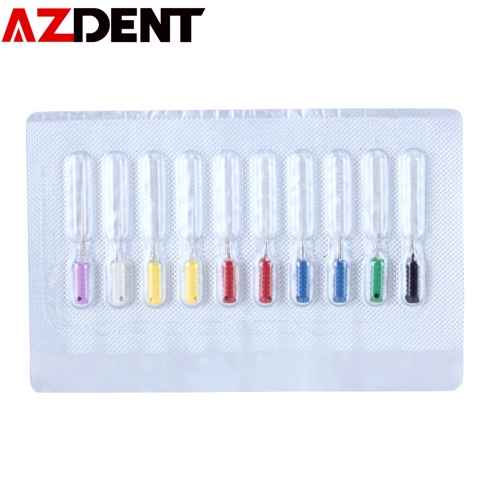 10Pcs/Pack 25mm Barbed Broaches  Dental Root Canal Cleaning Smooth Needle Dental Square Broaches Barbed Broaches For Root Clean