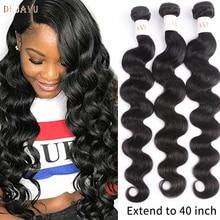 Dejavu Body Wave Bundles Remy Hair 3 Bundle Deal Peruvian Hair 30 40 Inch Bundles High Ratio Natural Color Hair Bundles