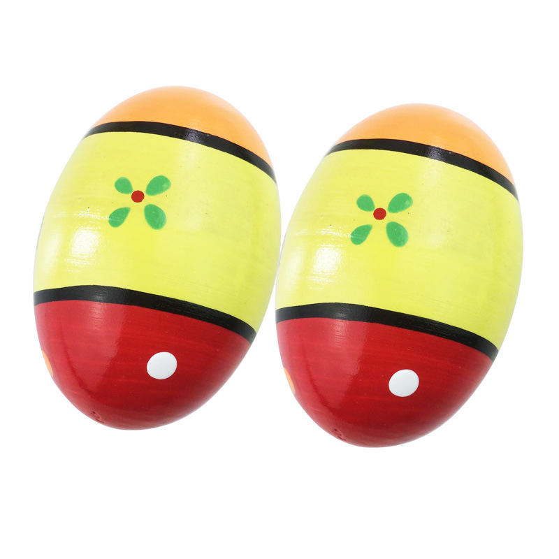 Orff Musical Instrument Toy Color Wood Sha Dan Children Rustling Toy Egg A Pair