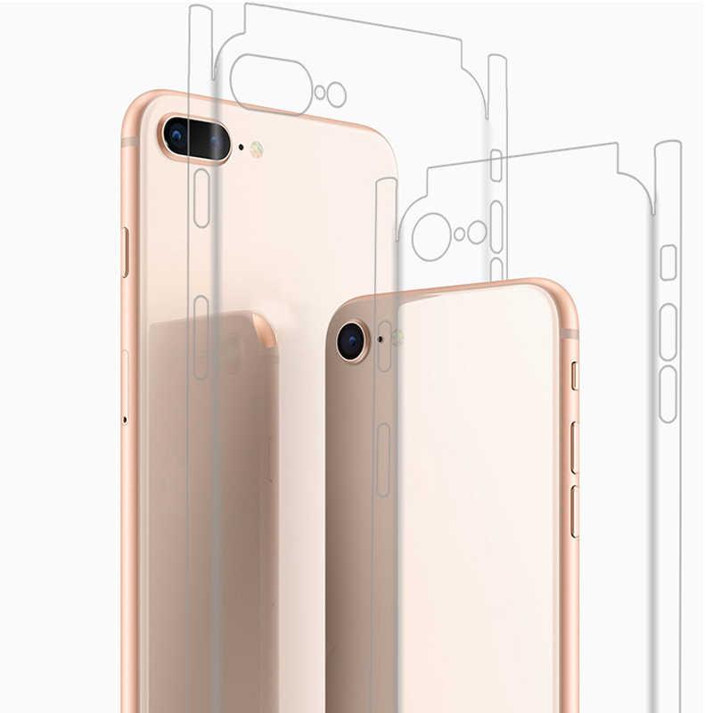 IPhone 11 7 8 X XS XR 6 6s arka Film ince ekran koruyucu koruyucu çıkartmalar kapak şeffaf paster arka dekoratif Film