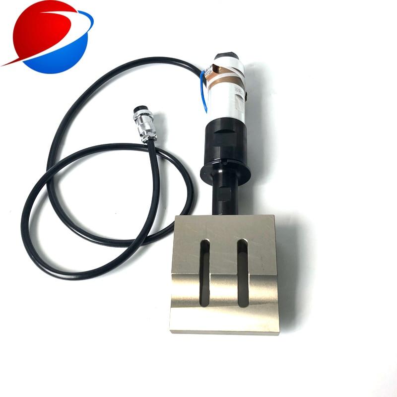 20K 2000W High Power Ultrasonic Welding Transducer/Converter/Sensor For Mask Sealing Machine 110x20mm Horn