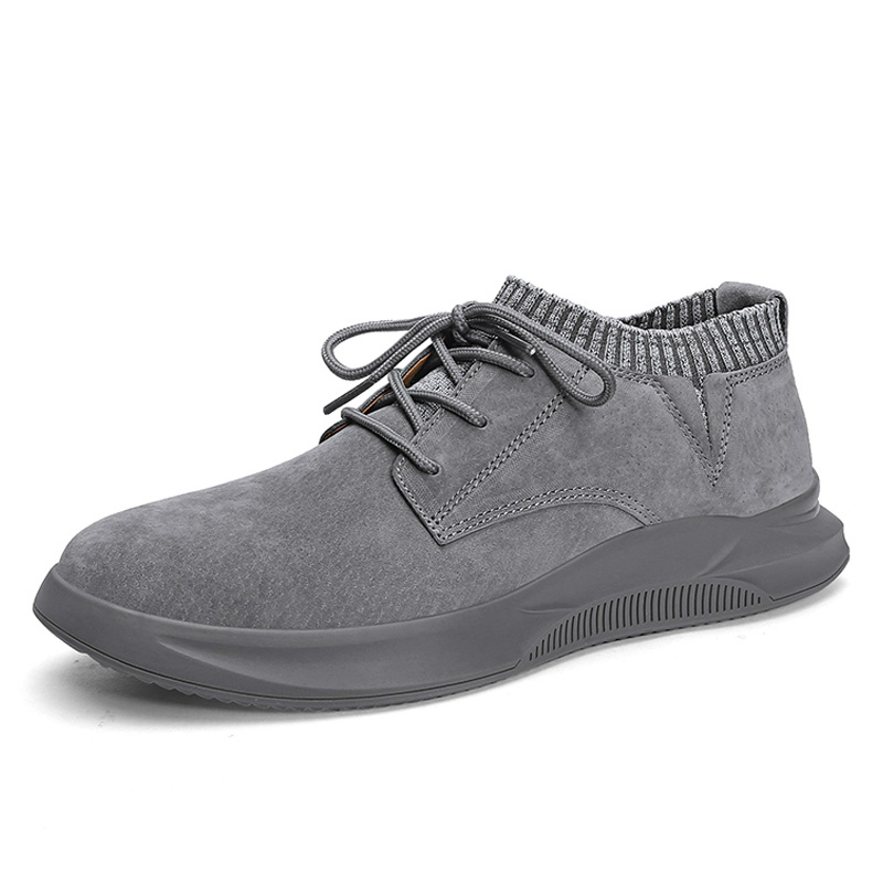 Autumn Men's Casual Shoes Breathable Suede Leather Men Sneakers Hip Hop Man Casual Shoes Lace-up Air Shoes Flats Moccasins Shoes
