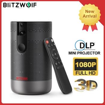 Blitzwolf BW-VP4 1920x1080 completo hd projetor android 7.1 (2g + 16g) 5g wifi dlp proyector suporte 4k 3d zoom jogo de vídeo beamer