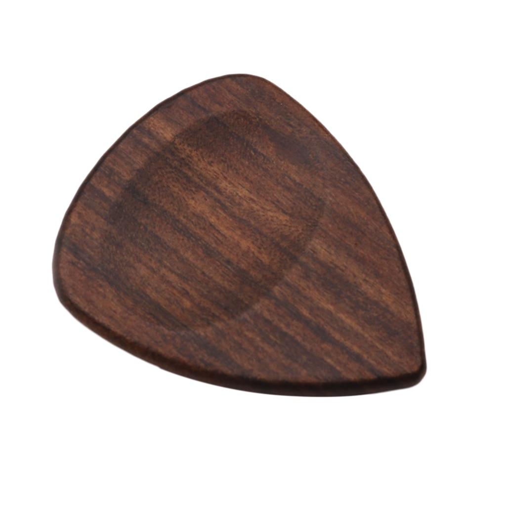 Чёрная деревянная гитара, бас-палочка, Plectrum в форме сердца Instruments