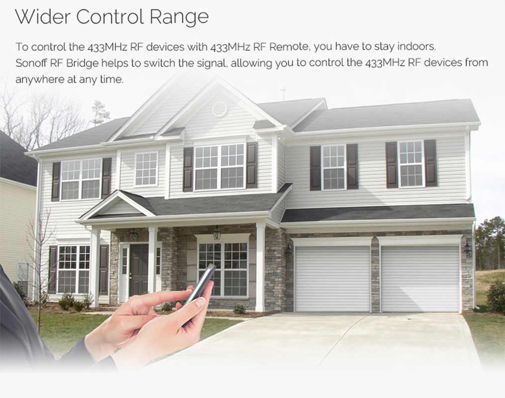 Sonoff most rf WiFi 433 MHz PIR 2 czujnik/DW1 inteligentny przełącznik automatyki domowej inteligentny Domotica Wi-Fi zdalne bezpieczeństwo w domu zestaw