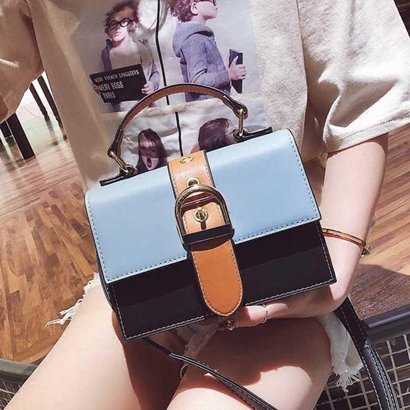 Модная женская дизайнерская сумка YL, Новая высококачественная женская сумка из искусственной кожи, контрастная женская сумка-тоут, сумки-мессенджеры через плечо