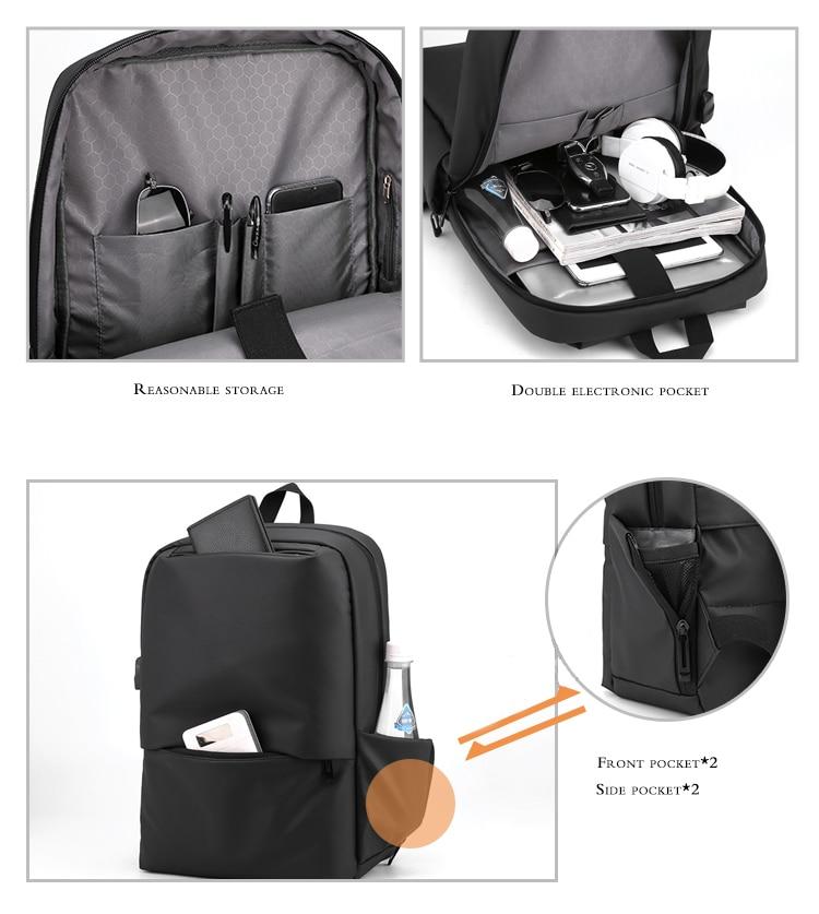 OUBDAR 2020 New Anti Theft Men Back pack Laptop Backpacks School Fashion Travel Male Mochilas USB Charging Schoolbag Unisex bag 4