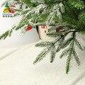 Pvc pe branco neve em pó floco de neve decoração árvore de natal natal artesanato presente