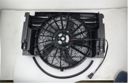 AP03 400W New <font><b>Cooling</b></font> Radiator <font><b>Fan</b></font> With Module & Brushless <font><b>Motor</b></font> For <font><b>BMW</b></font> E53 X5 4.4i 3.0d 4.6is 3.0i 64506908124 image